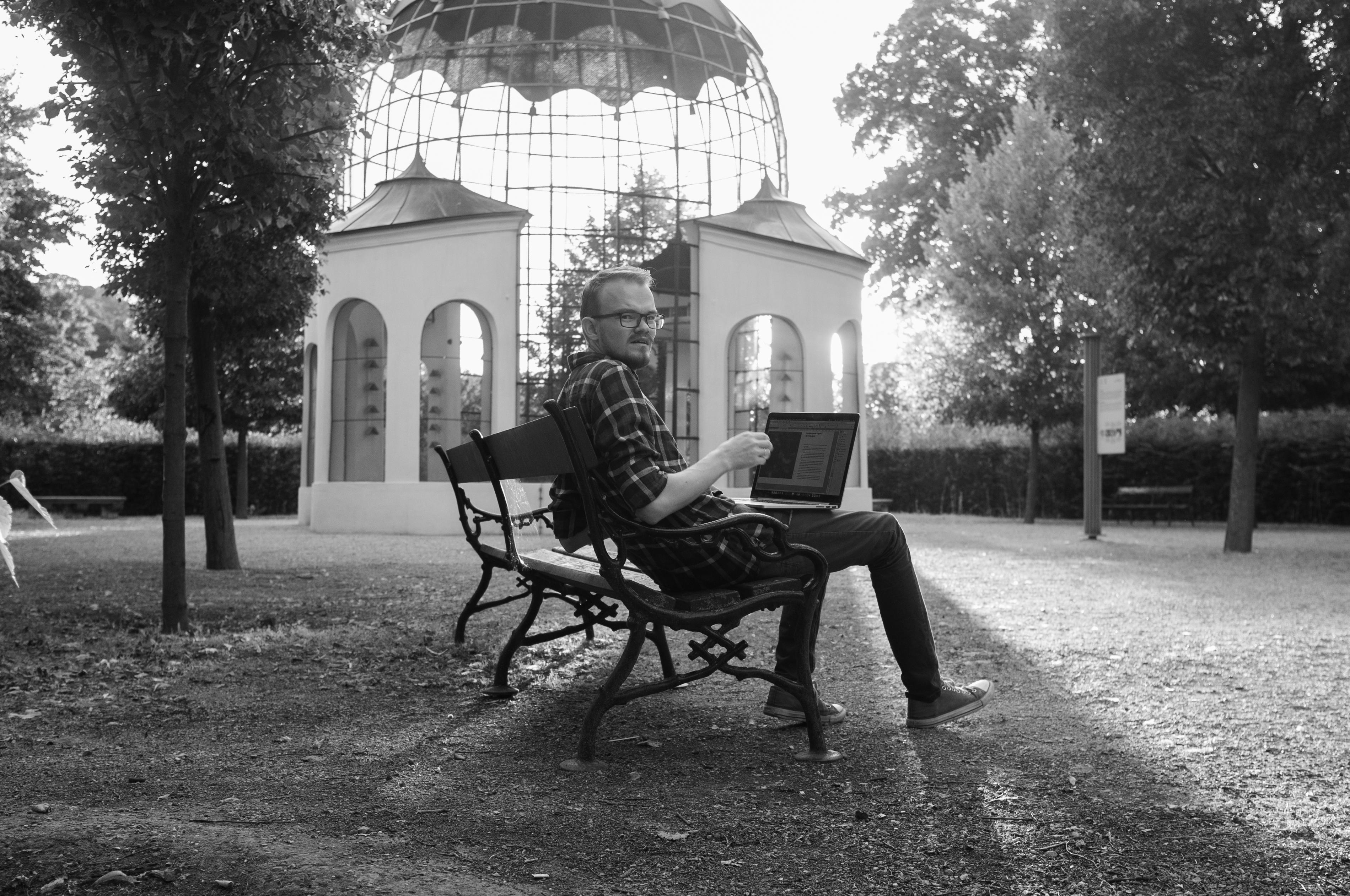 31 августа. Вена. Шёнбрунский лес. Работа над черновиками к книге «Все на улицу! Практическое руководство по стрит-фотографии.»